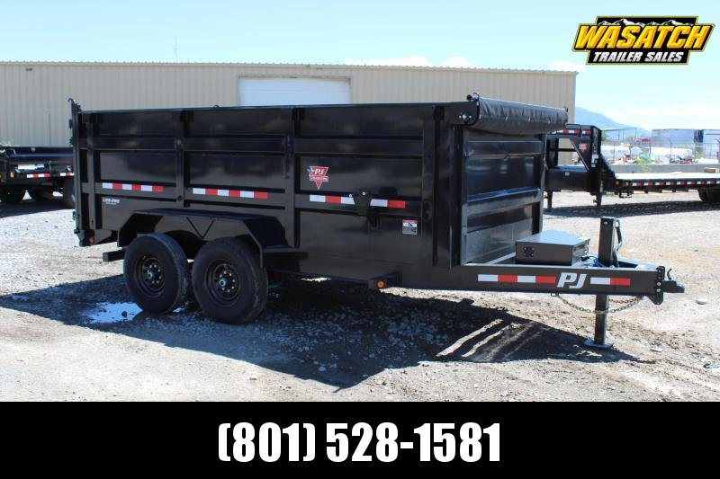 PJ Trailers 7x16 Low-Pro High Side (DM) Dump Trailer