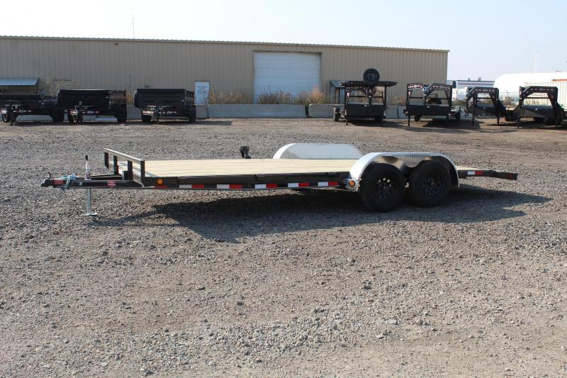 "PJ Trailers 7x18 4"" Channel Carhauler (C4) Flatbed Trailer"