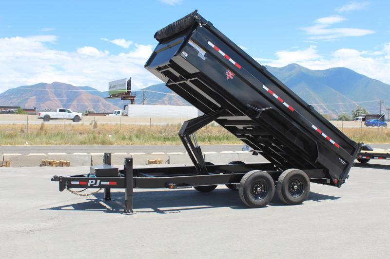 "PJ Trailers 7x16 83"" Low-Pro High Side Dump (DM) Dump Trailer"