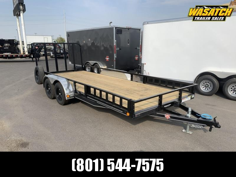 PJ 7x18 Tandem Channel Utility (UL) w/ ATV Ramps