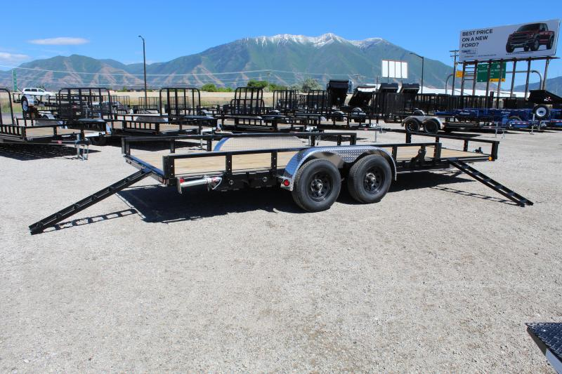 PJ Trailers 83x20 Tandem Axle Channel (UL) Utility Trailer