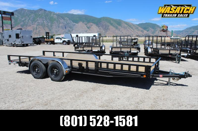 PJ Trailers 83x22 Tandem Axle Channel (UL) Utility Trailer