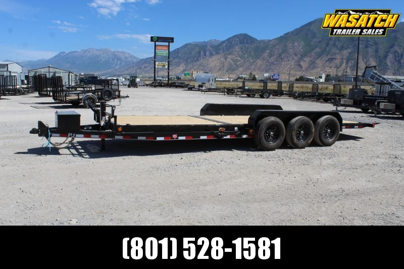 "PJ Trailers 7x24 6"" Channel Tilt (T6) Equipment Trailer"