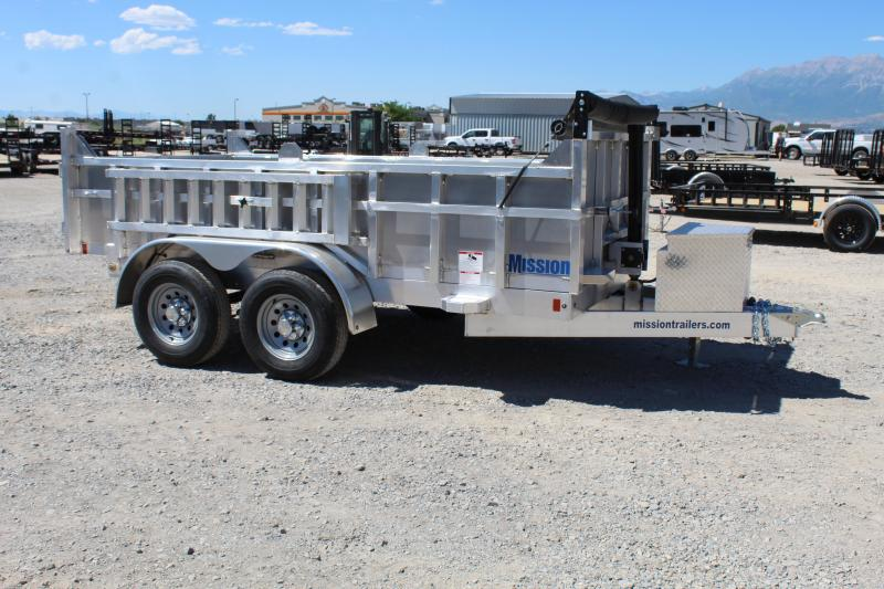 ***Mission 6x12 Aluminum Telescopic Dump Trailer***