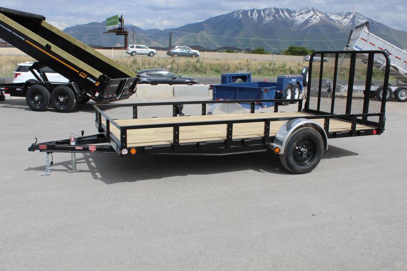 PJ Trailers 7x12 Single Axle Channel (U8) Utility Trailer 5200# Axle