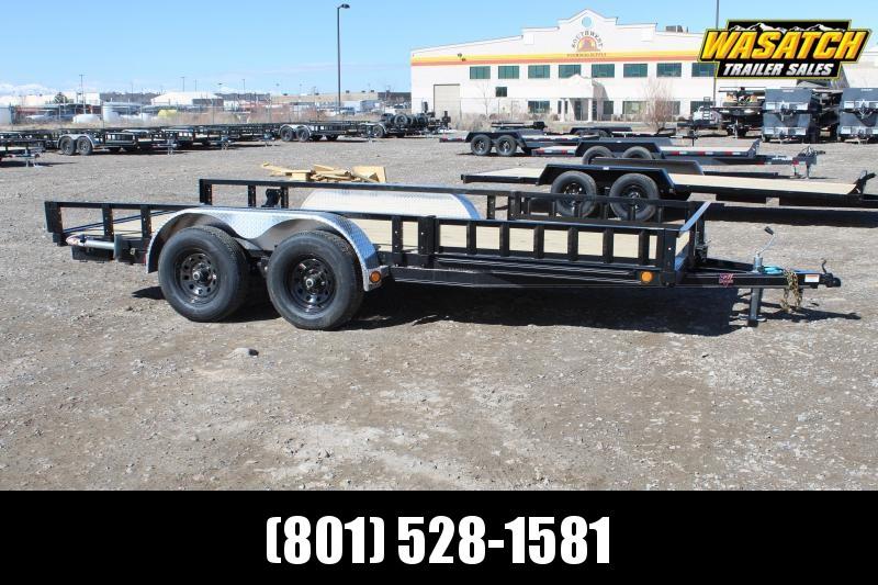 "PJ Trailers 7x16 83"" Tandem Axle Channel Utility (UL) Utility Trailer"