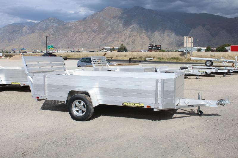 Aluma 6.5x12 Heavy Duty Utility Trailer (7712HSLR) w/ 2' Sides