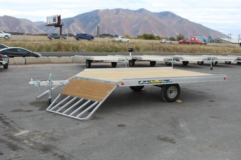 Aluma 8612DT Aluminum Snowmobile Trailer