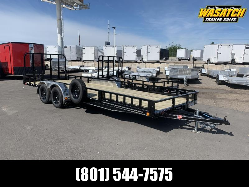 PJ 7x22 Tandem Channel Utility (UL) w/ ATV Ramps