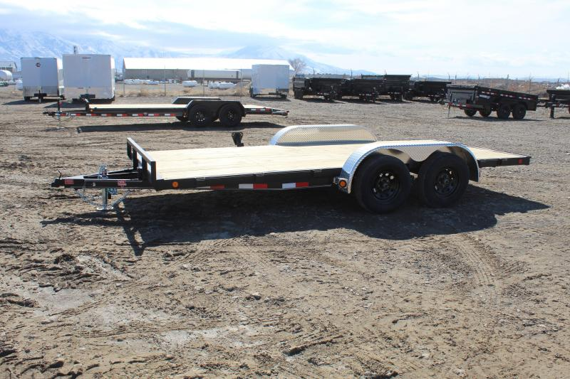 "PJ Trailers 7x16 4"" Channel Carhauler (C4) Car / Racing Trailer"