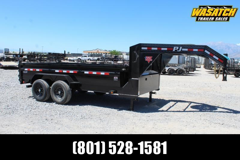 PJ Trailers 7x14 Low-Pro Dump (DL) Dump Trailer