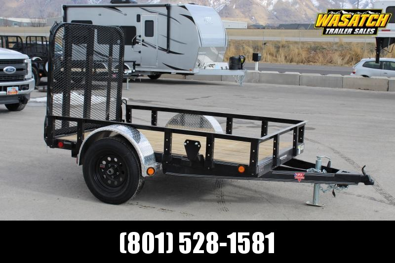 "PJ Trailers 5x8 60"" Single Axle Channel (U6) Utility Trailer"