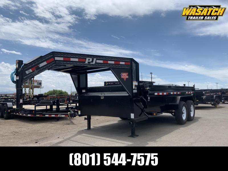 PJ 7x14 Gooseneck Low Pro Dump (DL)