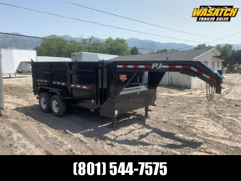 PJ 7x14 4' High Side Gooseneck Dump (DM)