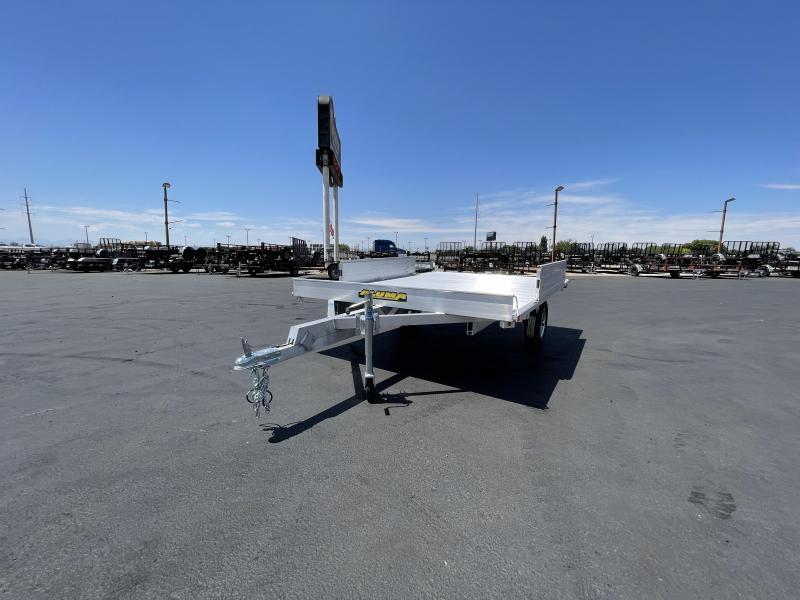 "Aluma - 88"" x 10' - Single Axle - Side Ramps - Aluminum ATV Trailer"