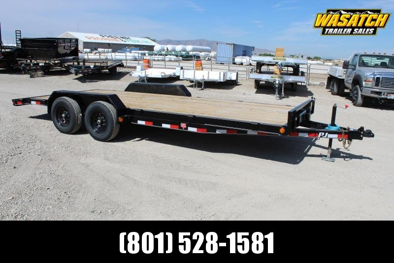 "PJ Trailers 7x18 5"" Channel Carhauler (CE) Equipment Trailer"