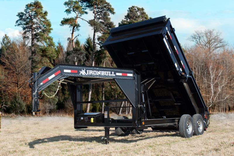 2022 Iron Bull GD14 14000lb GVWR Gooseneck Dump Trailer