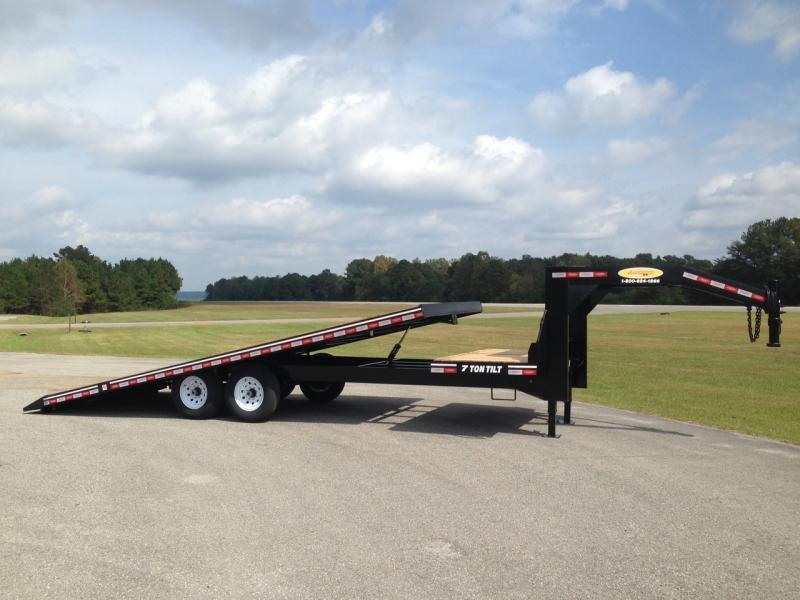 2020 Econoline 7-Ton Gooseneck Deckover Partial Tilt BG0725TE Equipment Trailer