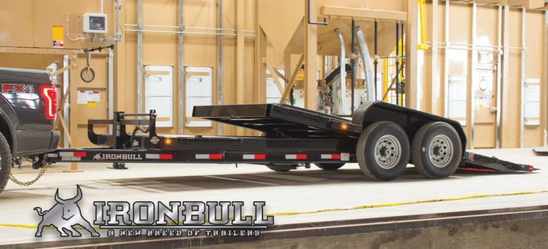 2022 Iron Bull TLB14 14000lb GVWR Tandem Axle Low-Pro Tilt Equipment Trailer