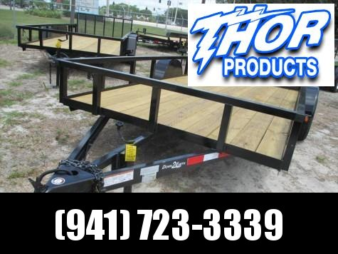 """IN STOCK!  6'4"""" x 12 SA Utility Trailer W/Tube top and rear ramp"""