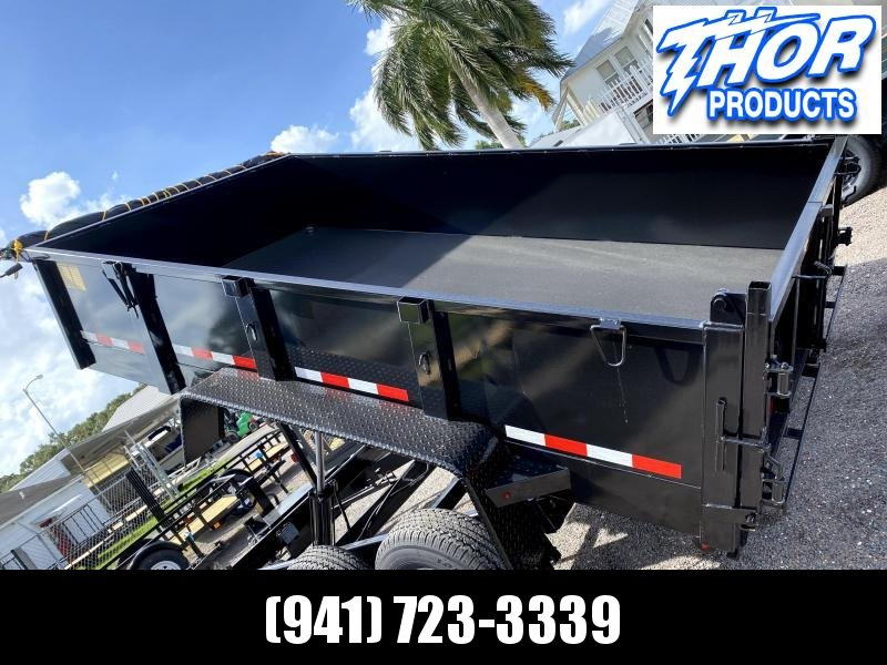 IN STOCK! 7x12 TA 14K Dump Trailer with Ramps and Tarp Included