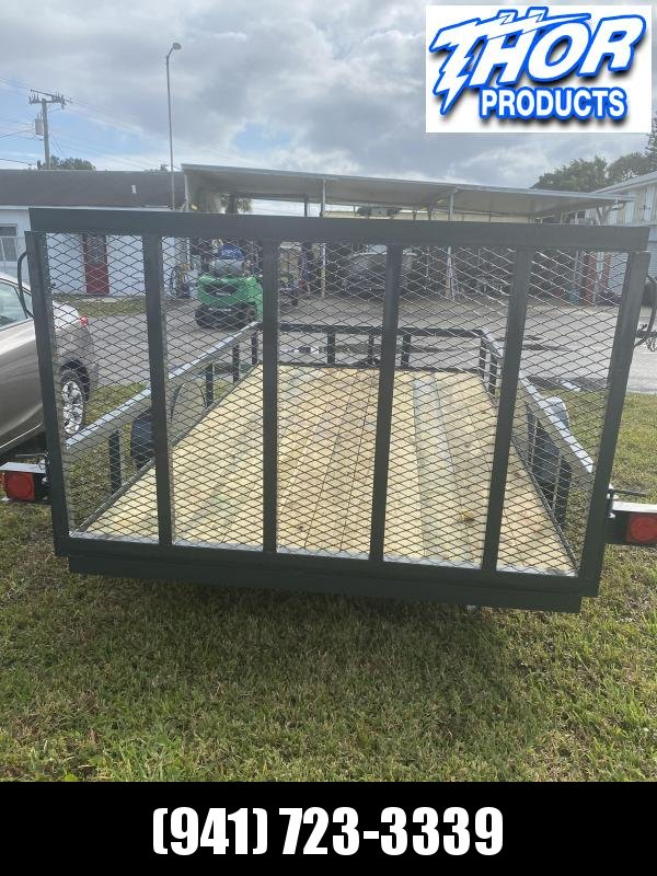 IN STOCK! 6.5x14 SA Utility Trailer w/Tube Top * LED lights * RADIAL TIRES * GRAY