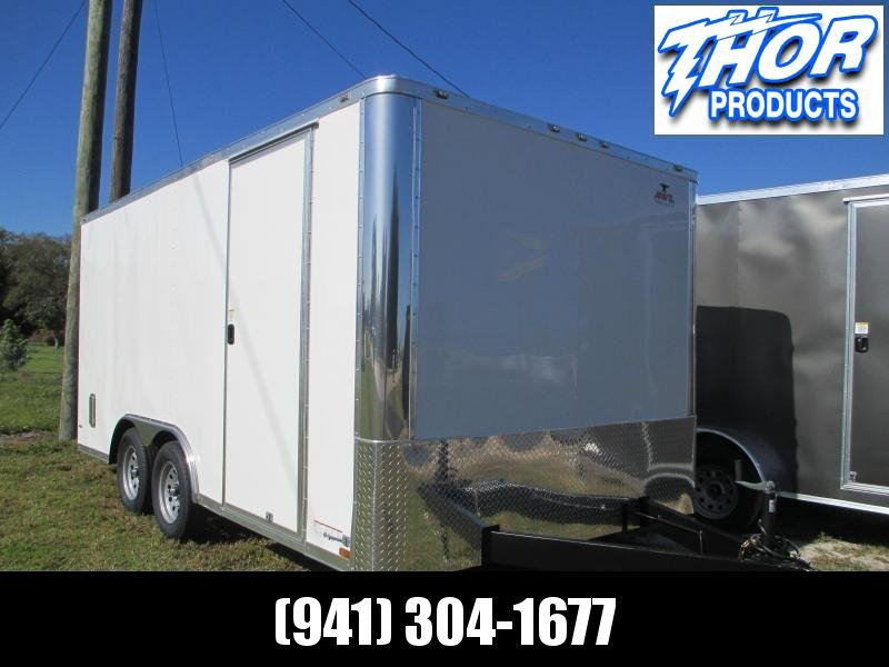 NEW 8.5 X 16 TA Enclosed Trailer w/Ramp Radial Tires Roof vent and sidewall vents