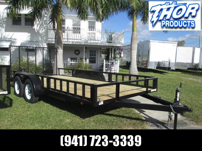 IN STOCK! 7X16 TA ATV TRAILER W/1 brake axle Side and Rear Ramps LED Lights Radial Tires
