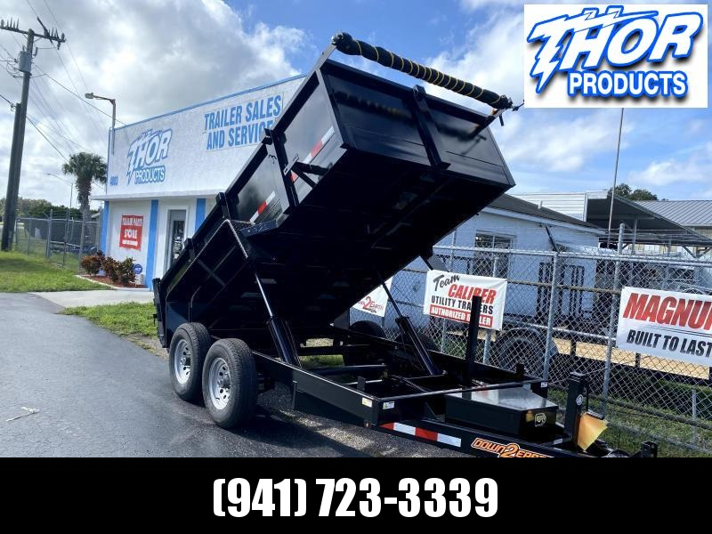 IN STOCK! 6x12 TA 10K Dump Trailer with Ramps and Tarp Included