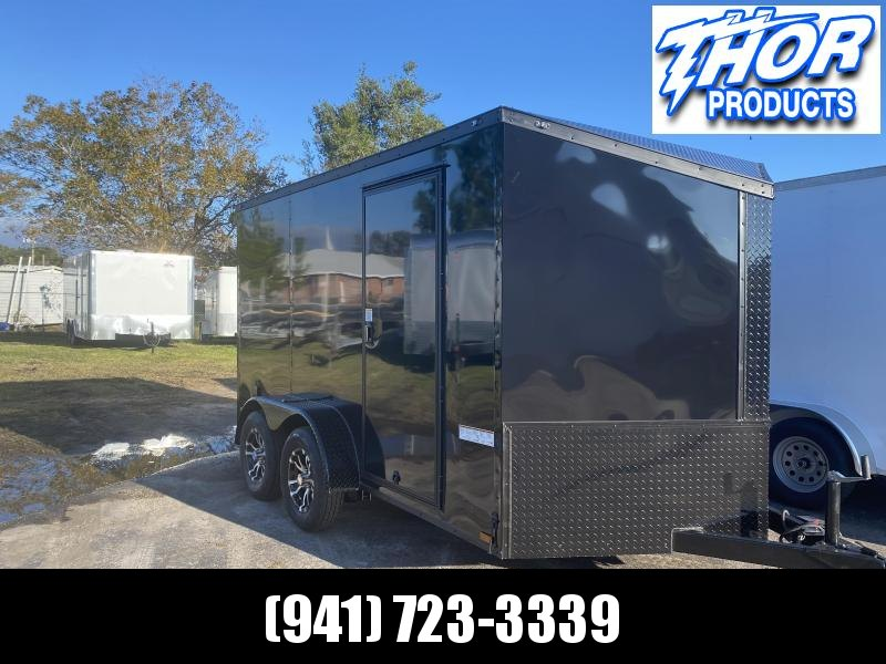 IN STOCK! 7X12 TA Trailer SLANT V  BLACK WITH TONS OF OPTIONS!
