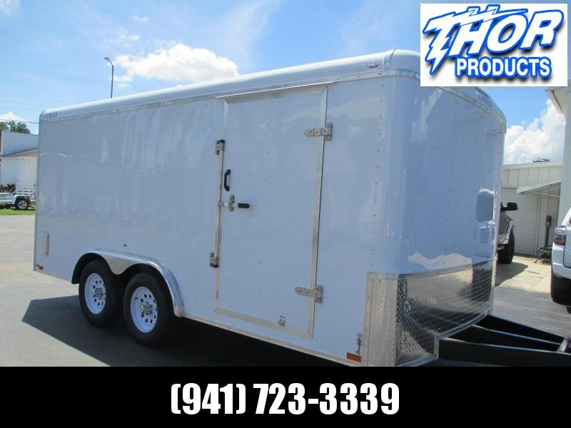 IN STOCK! 8x16 EXPRESS Commercial Duty Enclosed Trailer LANDSCAPERS DREAM!!