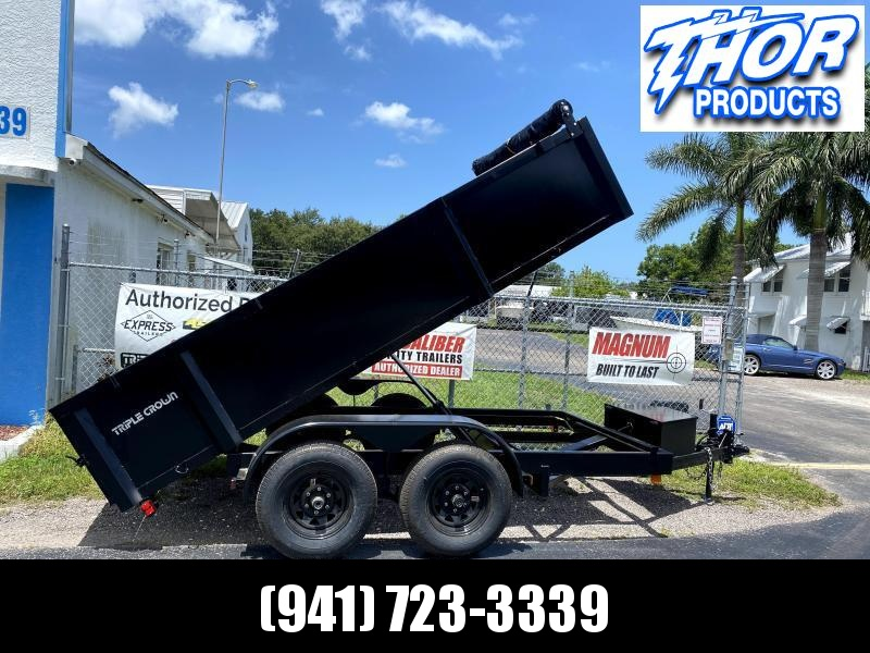 6x12 TA Dump Trailer - Haul 8140LB - TARP - SPLIT GATE