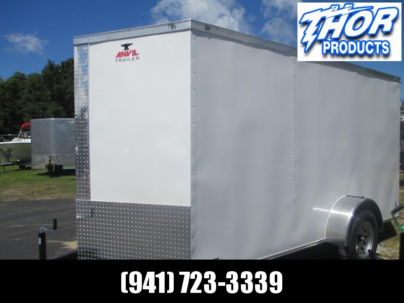 IN STOCK! 6 x 10 SA Trailer w/Double rear doors WHITE