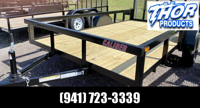 IN STOCK! 6.5x12 Utility Trailer w/Tube Top * LED lights * Ramp * Radial tires