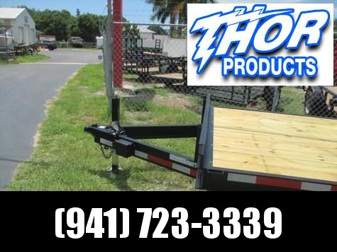 NEW 7 x 24 Equipment Trailer 14K w/Ramps with Spare Tire mount