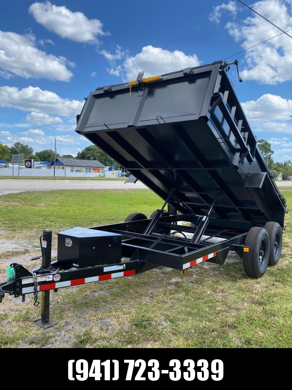 IN STOCK! 7x14 TA 14K Dump Trailer with Ramps and Tarp Included
