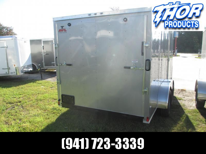 IN STOCK!! 7x18 Trailer White w/Ramp and side door!!  SILVER