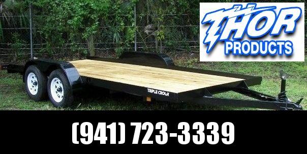 NEW 7X18 7K Car Hauler Drag UTV Side by Side ATV Open Trailer w/Ramps and Removable Fender