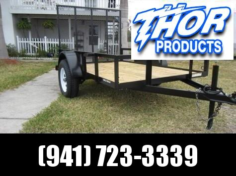 NEW 5 x 8 SA Utility Trailer w/ramp LED Lights - Radial Tires
