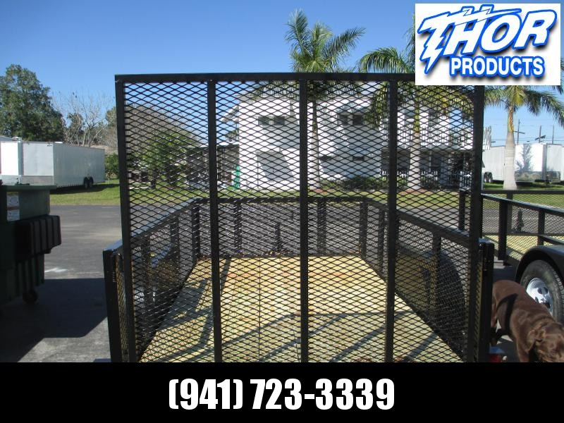 IN STOCK! 5 x 8 SA Utility Trailer 2FT MESH SIDES w/ramp LED Lights - Radial Tires