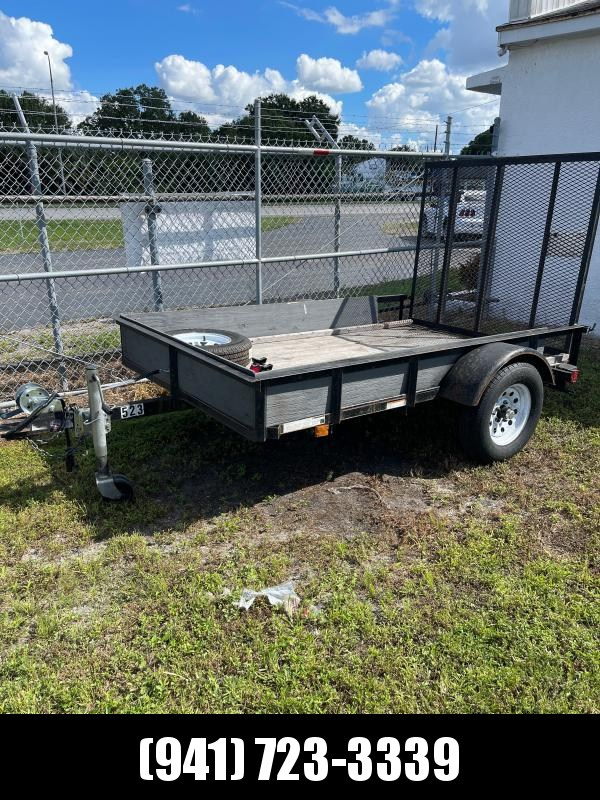 USED 5X8 SA Utility Trailer w/ramp - includes spare