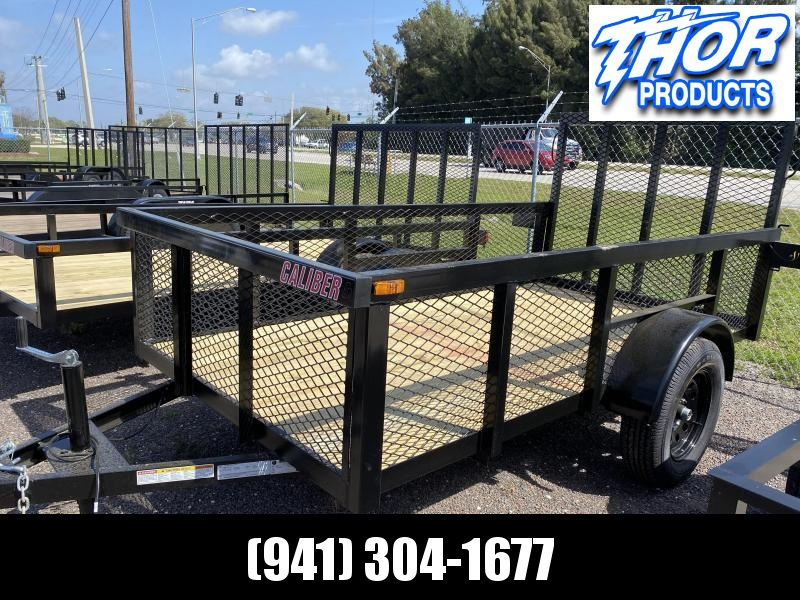 5x10 S/A Trailer w/Tube Top * LED lights * Ramp * 2' mesh sides * RADIAL TIRES