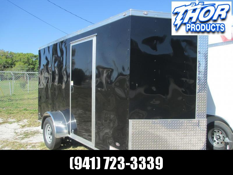 IN STOCK! 6 x 12 SA Trailer w/Ramp door Side Door BLACK