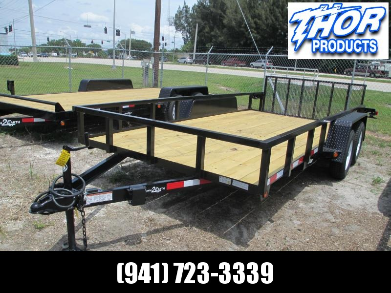 "6'10"" x 14 TA Utility Trailer W/2 axle brakes Ramp Tube Top LED Lights 2' dovetail"