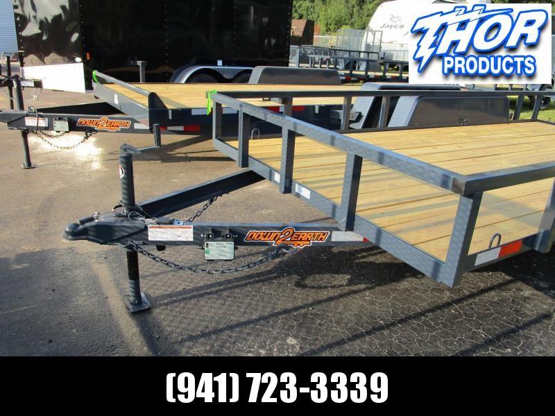 "6'10"" x 14 TA Utility Trailer W/2 axle brakes Ramp Tube Top GRAY LED Lights 2' dovetail"