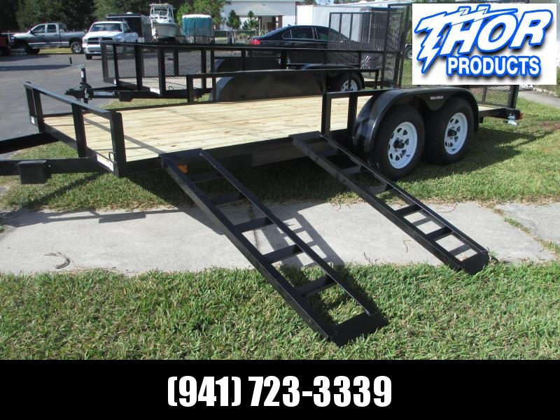 IN STOCK!  7X20 ATV UTILITY TRAILER T/A 2 axle Brakes w/side and rear Ramps!