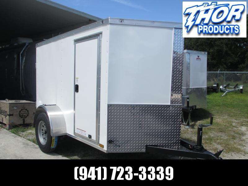 IN STOCK! 5x8 V-nose Trailer Ramp Door * Side Door * Therma Cool Ceiling WHITE