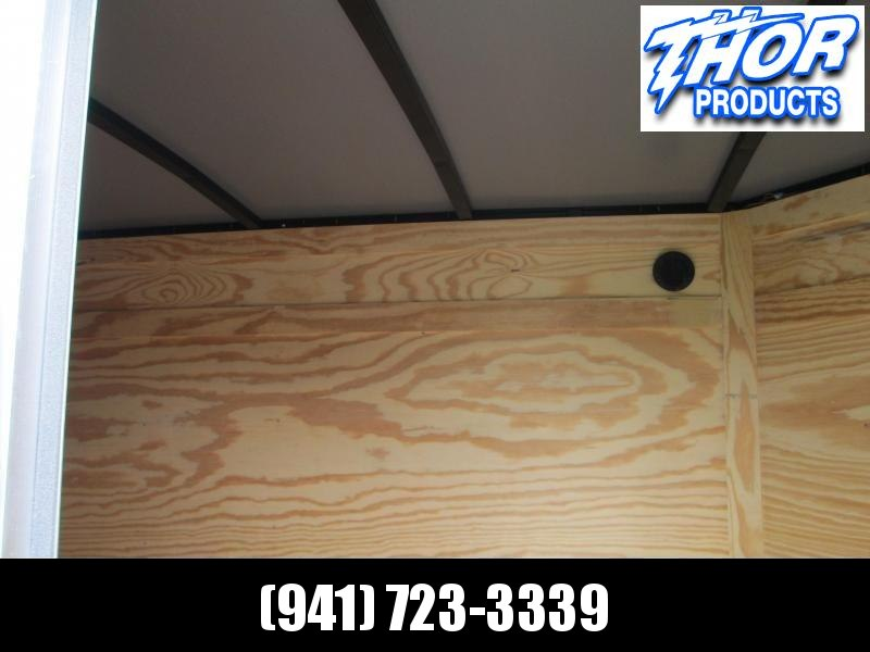 IN STOCK! 5x8 V-nose Trailer Ramp Door * Side Door * Therma Cool Ceiling WHITE