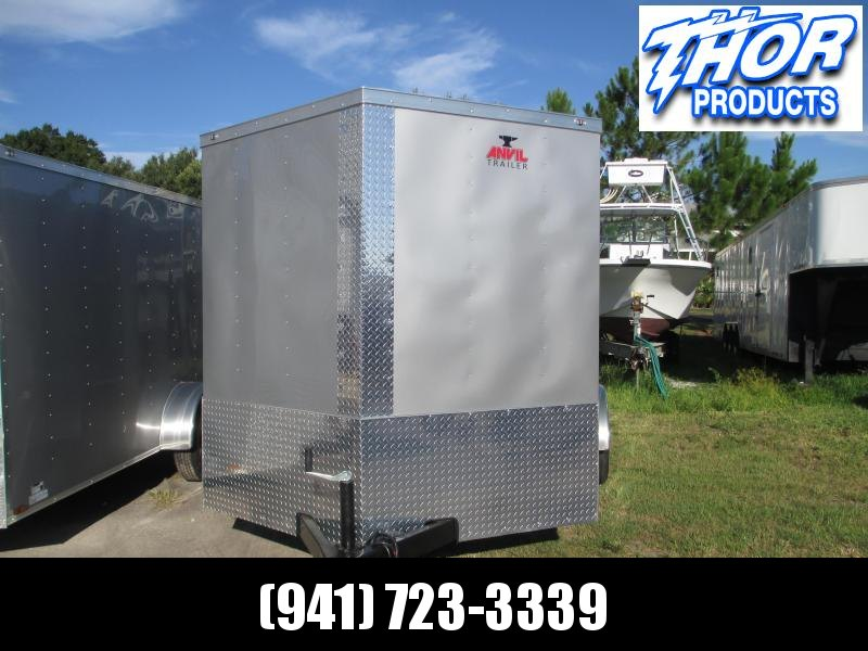 NEW 7x16 Trailer SILVER w/Ramp and side door - Sidewall vents