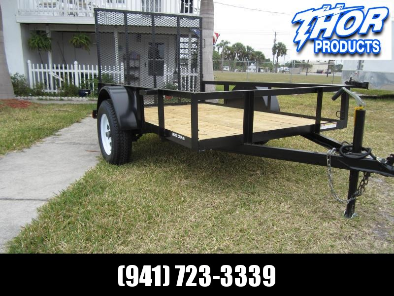 NEW 5 x 10 SA Utility Trailer w/ramp W/5200# AXLE BRAKES & LED LIGHTS!!